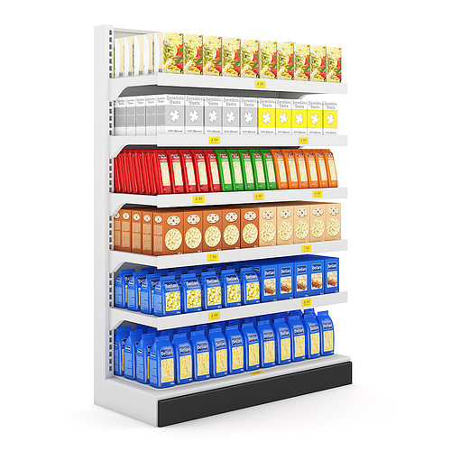 supermarket shelf 3d model max obj mtl fbx c4d 1