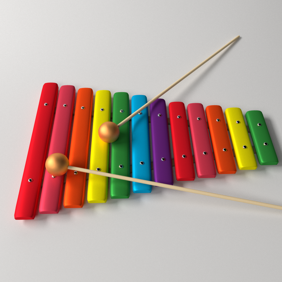 Xylophone 3D Model .3ds .fbx .blend .dae - CGTrader.com