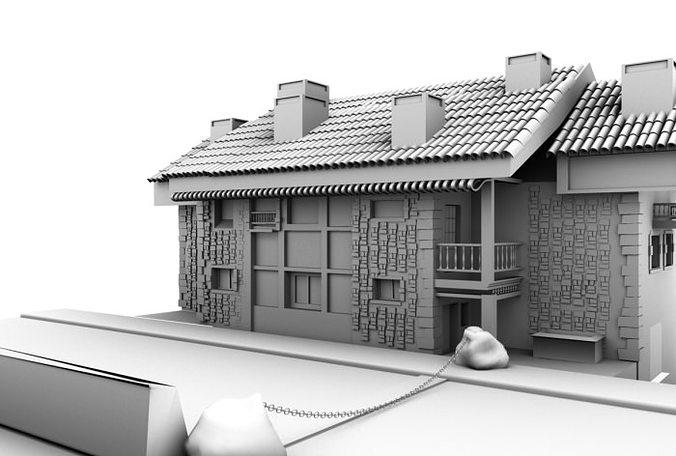 house 3d model ma mb 1