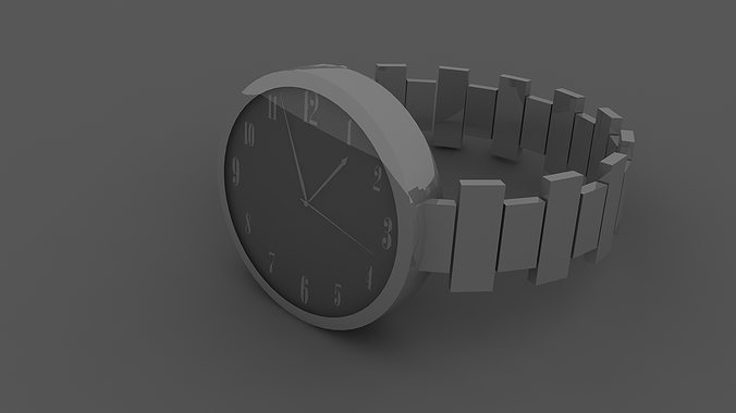 3d model simple modern hand watches cgtrader Simple 3d modeling online