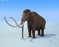 3d asset game-ready mammoth mammuthus