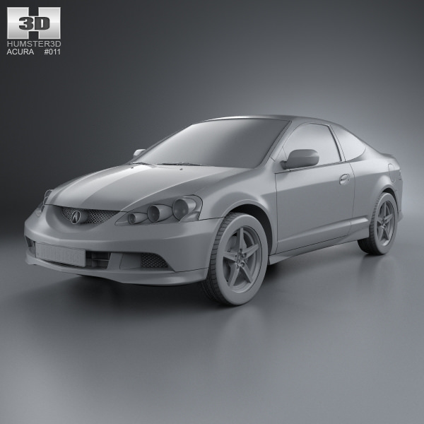 Acura Rsx Type S Acura Tsx: Acura RSX Type-S 2005 3D Model .max .obj .3ds .fbx .c4d