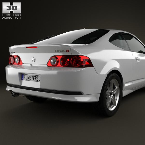 Acura RSX Type-S 2005 3D Model .max .obj .3ds .fbx .c4d