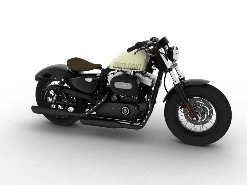 Harley-Davidson XL1200 Sportster Forty-Eight 2014 3D model MAX OBJ ...