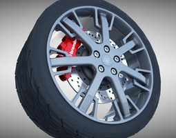 Maserati GranTurismo S Wheel 3D Model