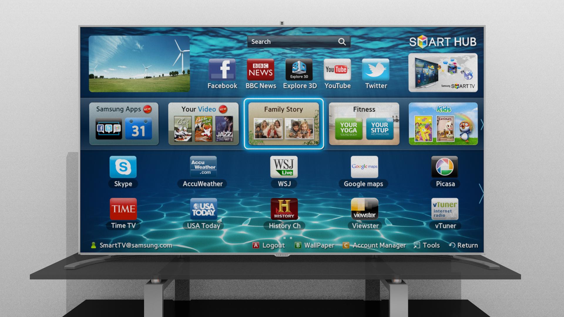 Samsung Smart Tv 39876 Model Obj Mtl Fbx Blend Dae 4