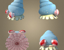 Mollusk Low Poly Character MAX 2011 3D Model