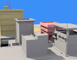 Small town 1 3D Model