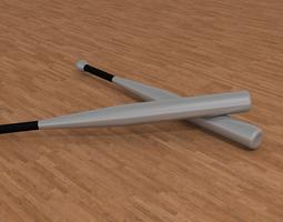 Aluminium baseball bat 3D Model