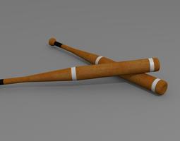 baseball bat 3d model obj blend