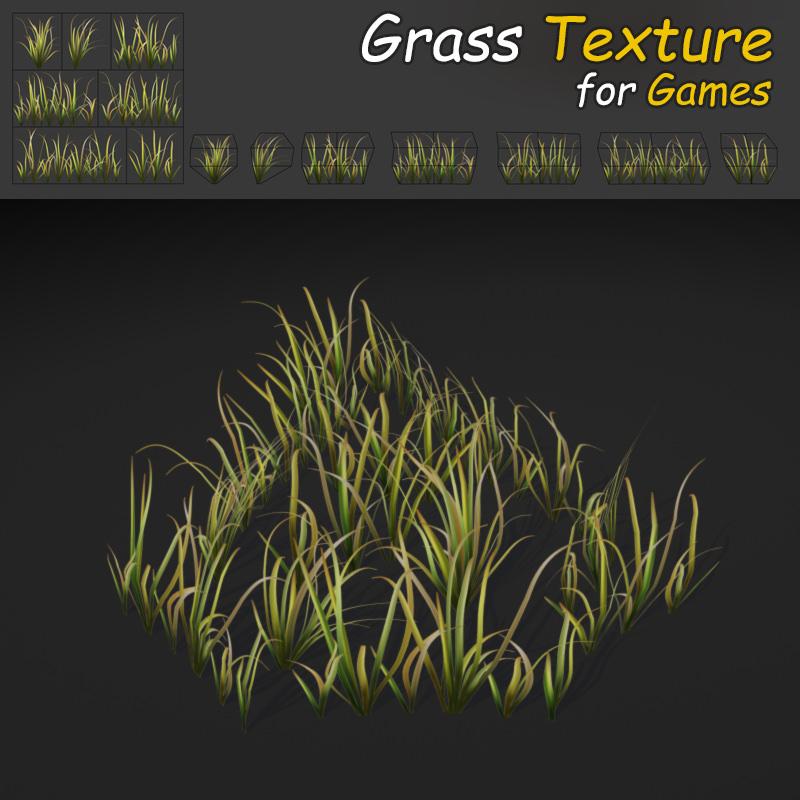wild grass texture. Wild Grass 3d Model Low-poly Max Obj Mtl Fbx Tga 1 Texture