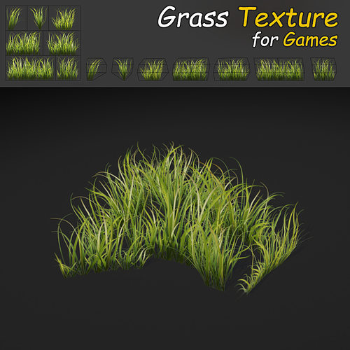 grass texture game. Unique Game Dense Grass Texture 3d Model Lowpoly Max Obj Fbx Mtl Tga 1  In Grass Texture Game M