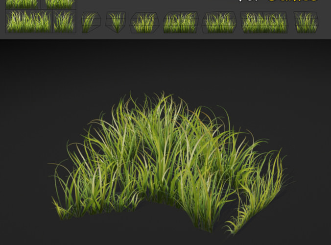 3d Model Dense Grass Texture Vr Ar Low Poly Max Obj