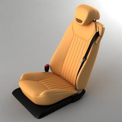 Mercedes Sl 09 Car Seat 3d Model Max Obj 3ds Cgtrader Com