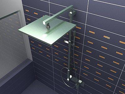 3d model ponsi italia bathroom shower cgtrader for New model bathroom