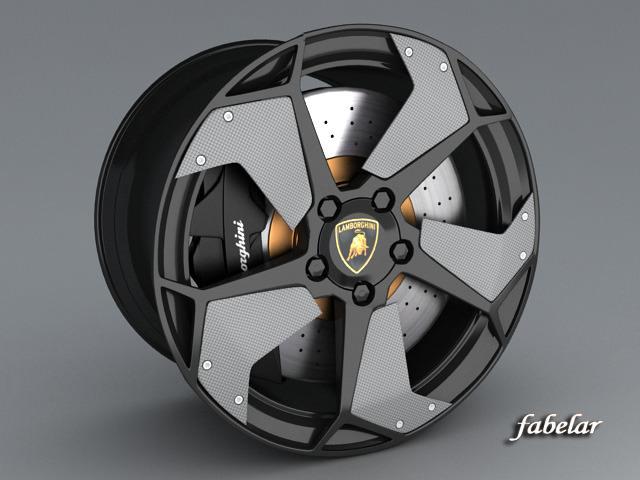 Lamborghini Reventon Rims 3d Model Max Obj 3ds Cgtrader Com