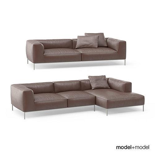 3d b b italia frank sofas cgtrader. Black Bedroom Furniture Sets. Home Design Ideas