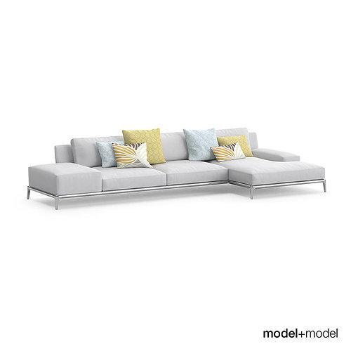 Poliform Park Sofas Model Max Obj Fbx 3