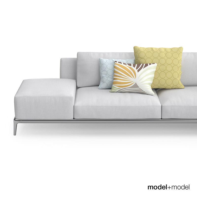 Poliform park sofas 3d model max obj fbx for Divan furniture models
