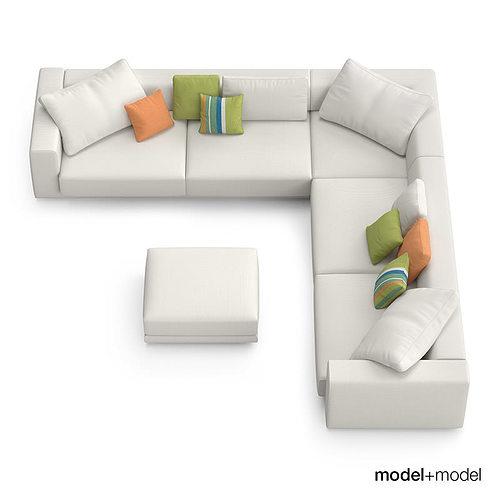 MDF Italia Sliding sofas 3D model | CGTrader