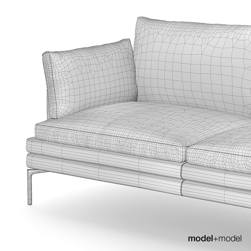 zanotta william sofas 3d model max obj fbx mat. Black Bedroom Furniture Sets. Home Design Ideas