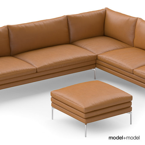 zanotta william sofas 3d model max obj fbx. Black Bedroom Furniture Sets. Home Design Ideas