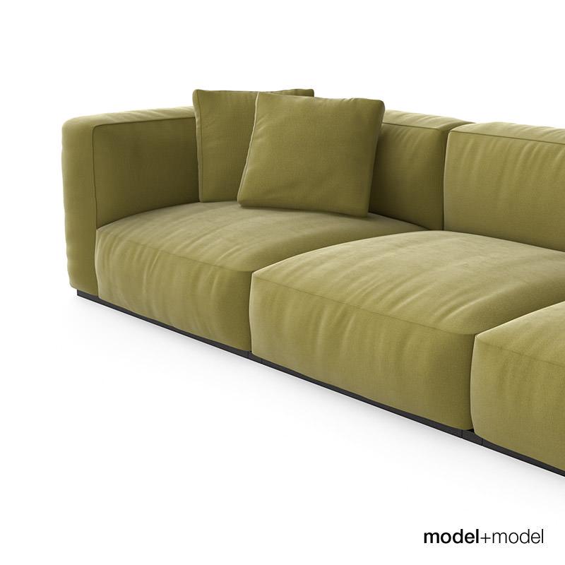 Cassina mexcube sofas 3d model max obj fbx for Sofa 8 cassina