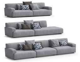 ligne roset citta sofa and armchair free 3d model max obj fbx mat. Black Bedroom Furniture Sets. Home Design Ideas
