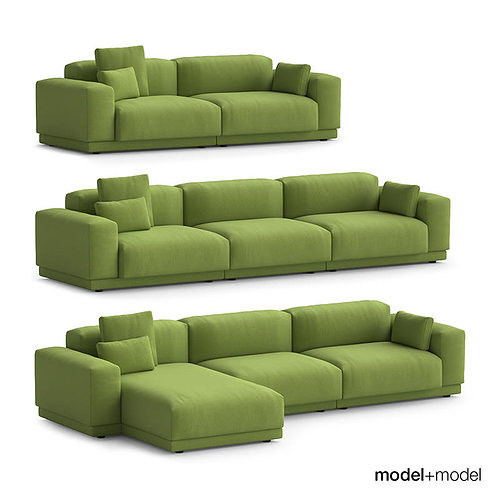 3d vitra place sofas cgtrader