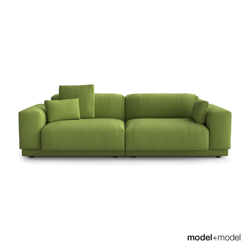 vitra place sofas 3d model max obj fbx. Black Bedroom Furniture Sets. Home Design Ideas