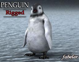 3D Emperor Penguin Chick