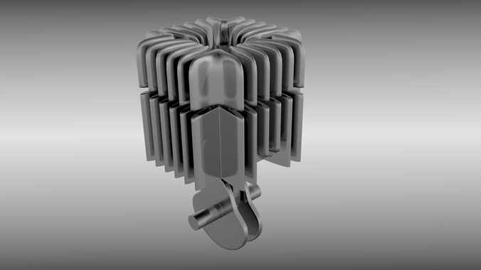 Two stroke cylinder and piston set3D model
