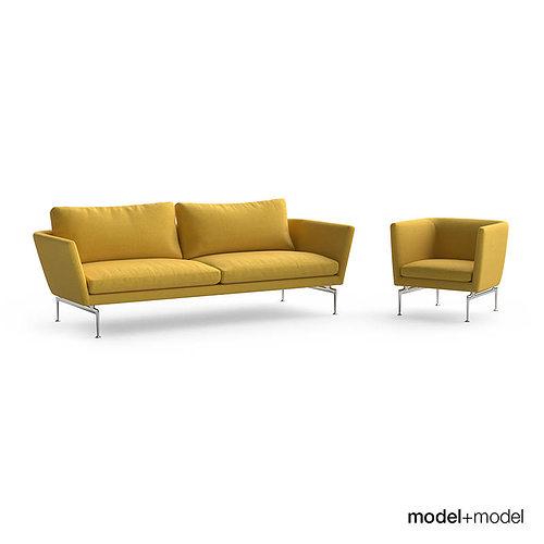 Vitra Suita Sofa And Armchair 3D Model MAX OBJ FBX MAT