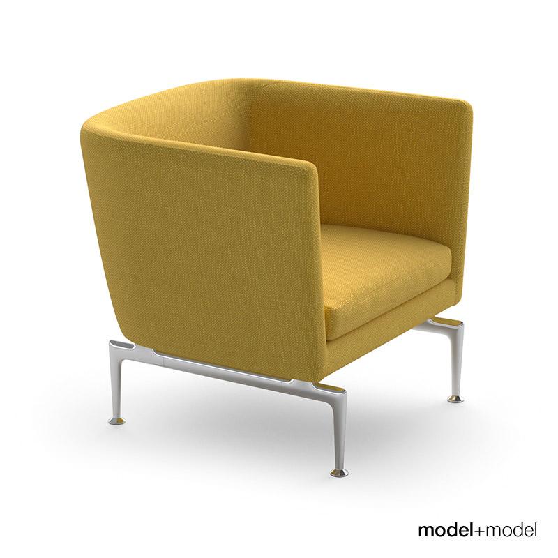 Vitra Suita Sofa And Armchair 3D Model Max Obj Fbx