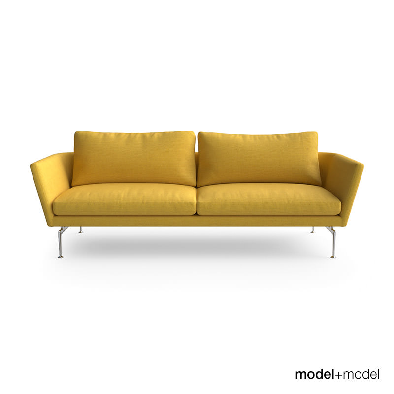 Vitra Suita Sofa And Armchair 3d Model Max Obj Fbx