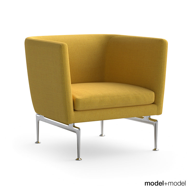 vitra suita sofa and armchair 3d model max obj fbx. Black Bedroom Furniture Sets. Home Design Ideas