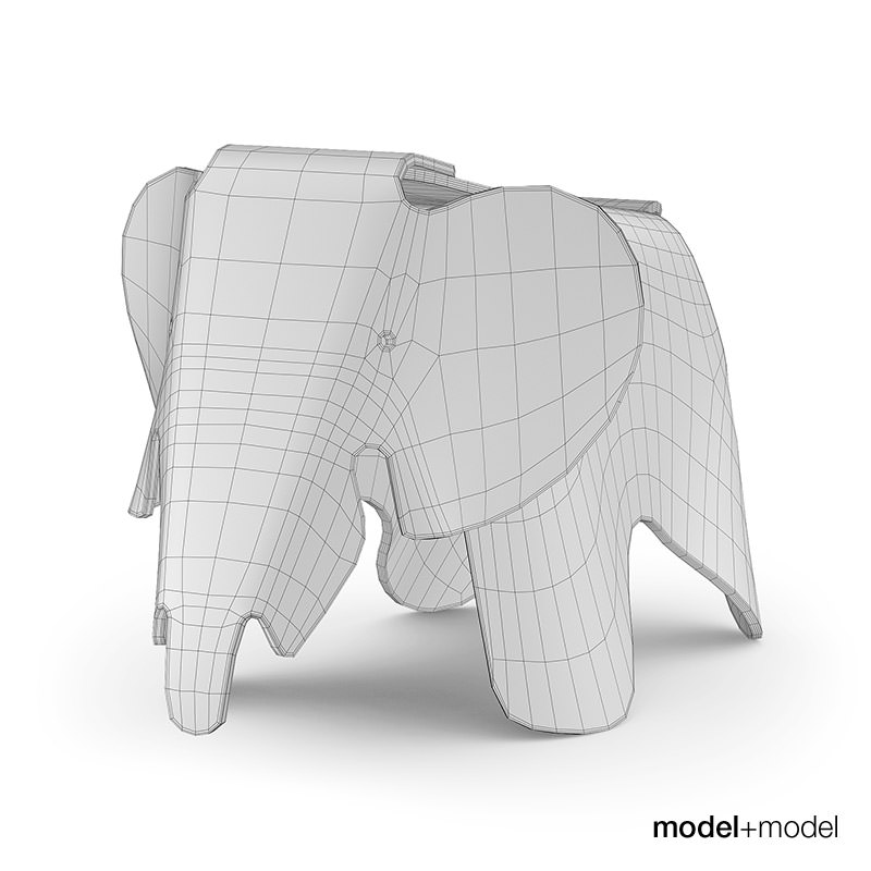 vitra eames elephant 3d model max obj fbx mat. Black Bedroom Furniture Sets. Home Design Ideas