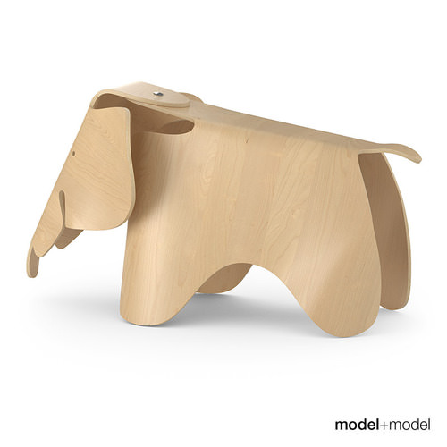 vitra eames elephant 3d model max obj fbx. Black Bedroom Furniture Sets. Home Design Ideas