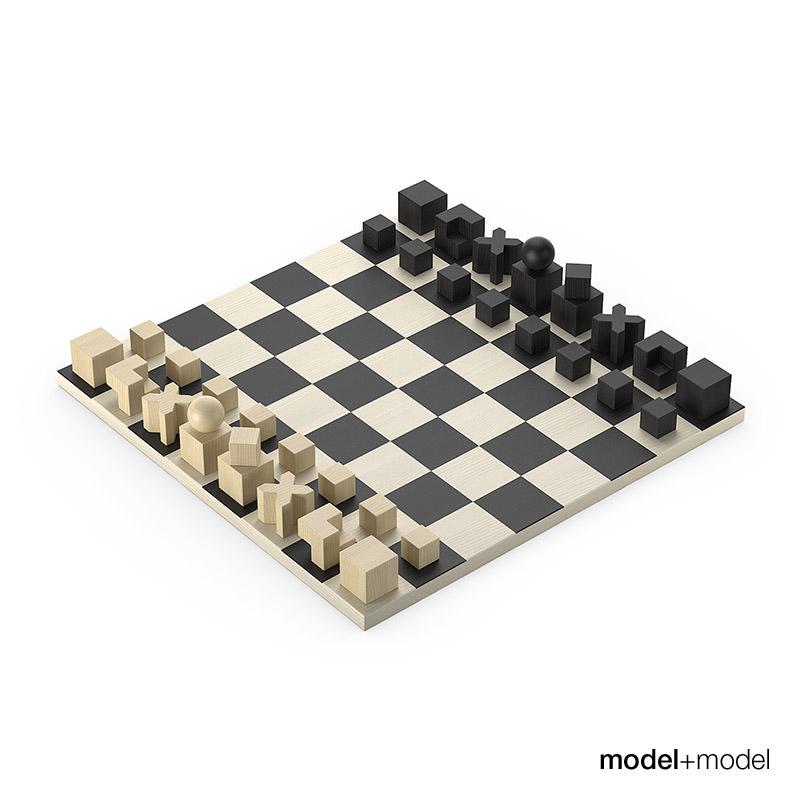 Bauhaus chess set 3d model max obj fbx - Bauhaus chess board ...