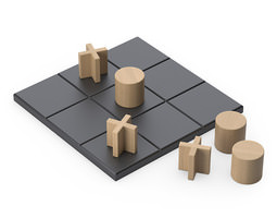 tic-tac-toe set 3d model