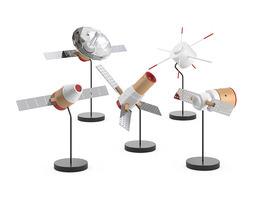 Papafoxtrot Space Fleet figures 3D Model