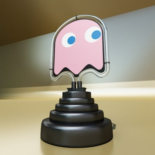 Puzzle Noel A Colorier : Table Lamp Pac Man Ghost 3D Model max 3ds fbx CGTradercom