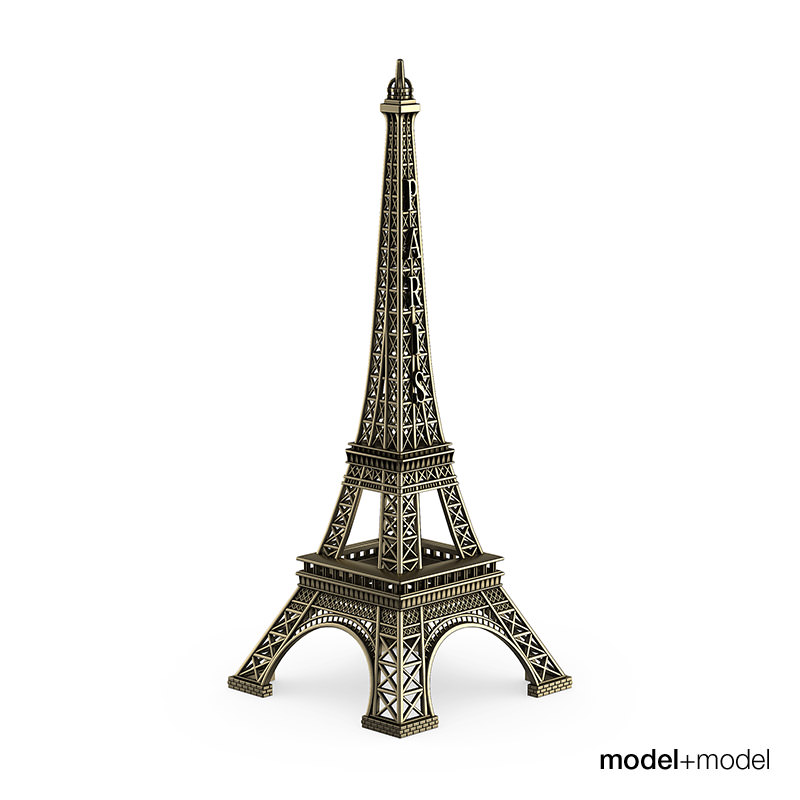 Mini Eiffel Tower on Furniture Made From Car Parts