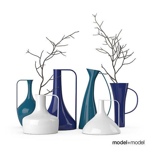 diamantini domeniconi hydria vases 3d model cgtrader. Black Bedroom Furniture Sets. Home Design Ideas