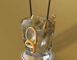 Vodka Cocktail Glass 3D Model