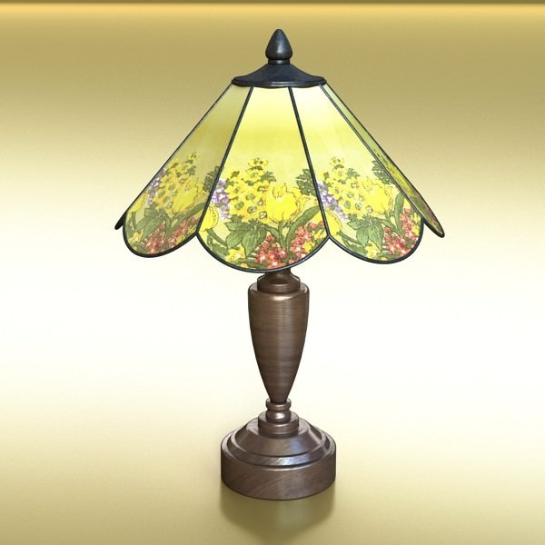 ... Victorian Table Lamp 10 3d Model Max Obj 3ds Fbx Mtl Mat 2 ...