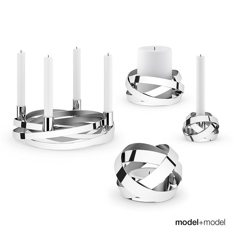 Georg Kerzenhalter georg kerzenhalter georg ribbons candleholders 3d model max obj