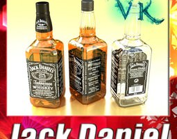 Jack Daniels Bottle 3D model
