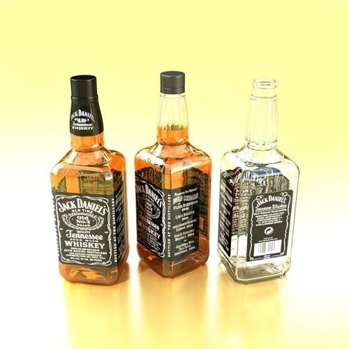 Jack Daniels Bottle 3d Model Max Obj 3ds Fbx