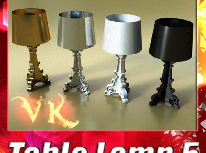 Table Lamp 05 Bourgie3D model